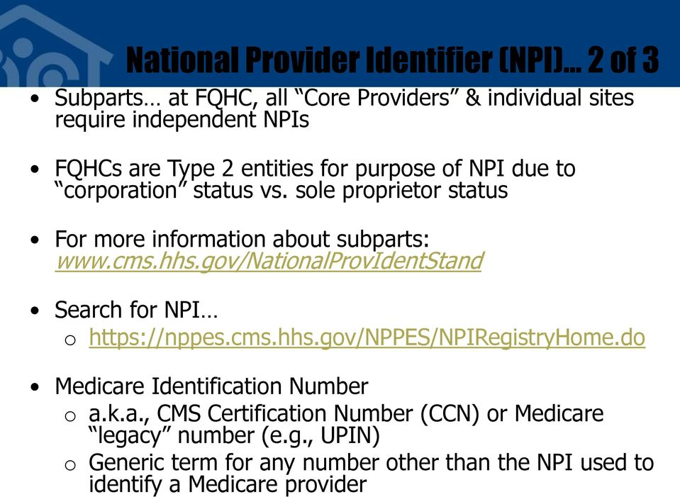 Credentialing, 855 Forms and NPI for Community Health Centers - PDF
