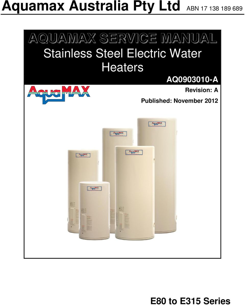 Electric Water Heaters AQ0903010-A