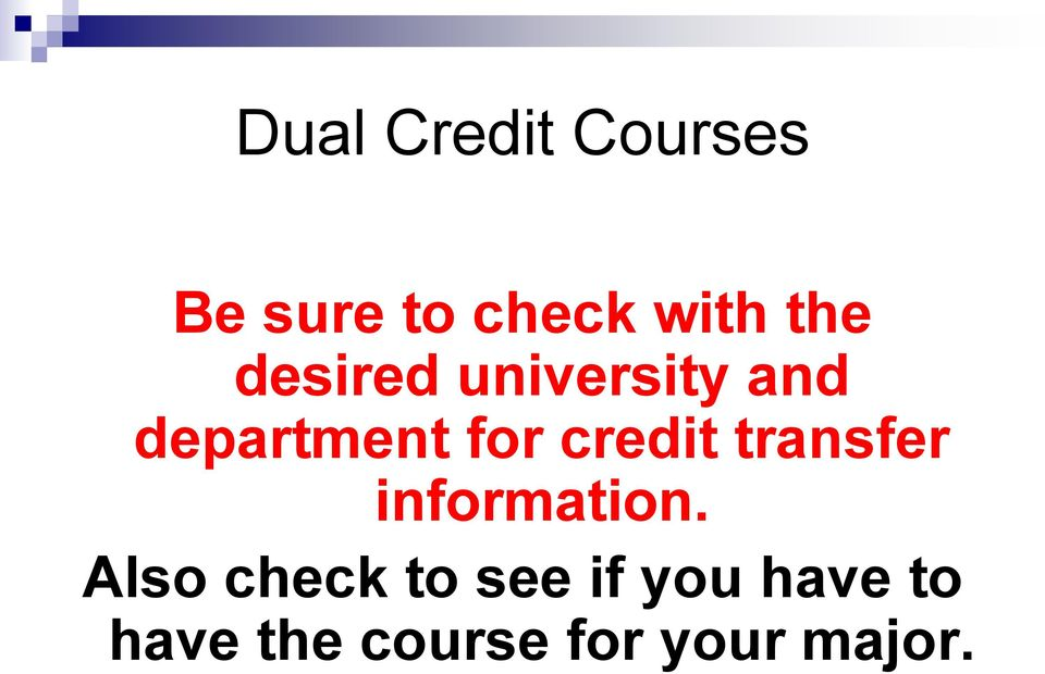 credit transfer information.