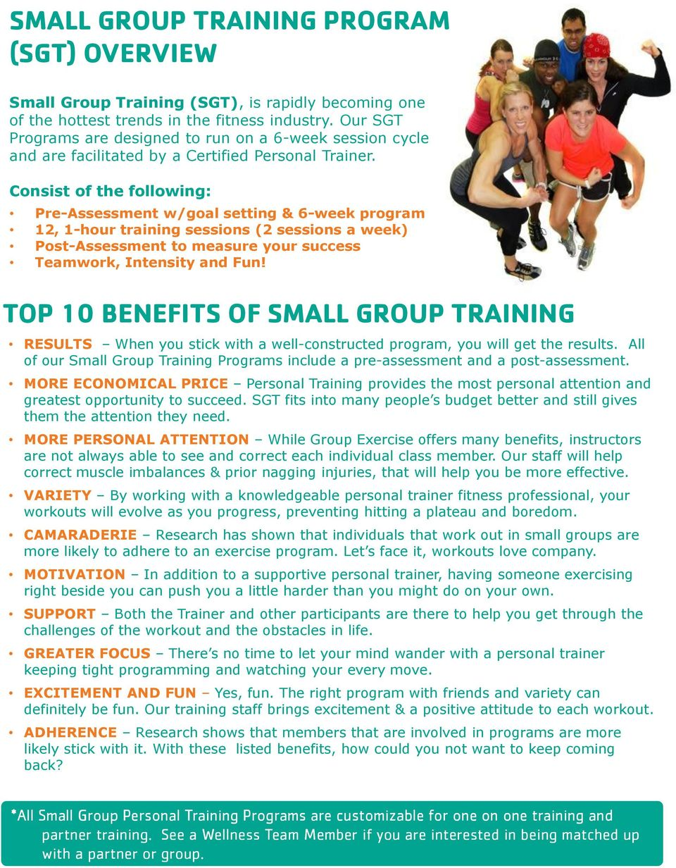 Small Group Personal Training Programs Pdf