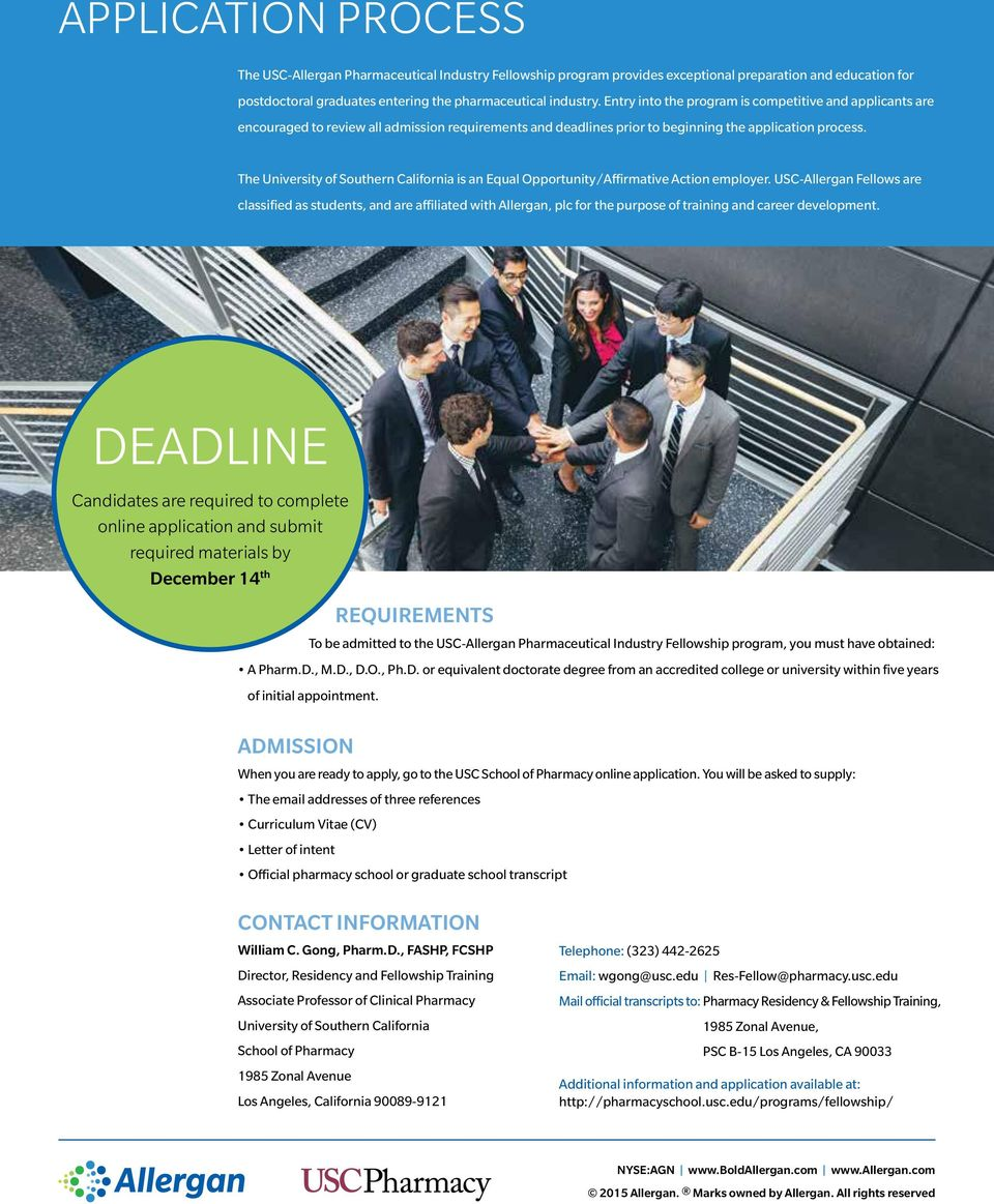 PHARMACEUTICAL INDUSTRY Fellowship Program - PDF