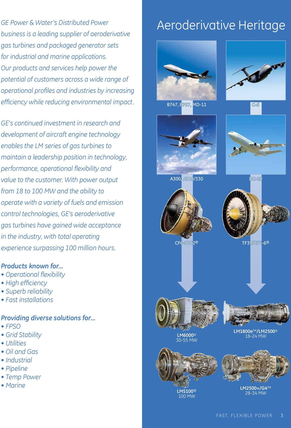 GE Power & Water Distributed Power  Fast, Flexible Power