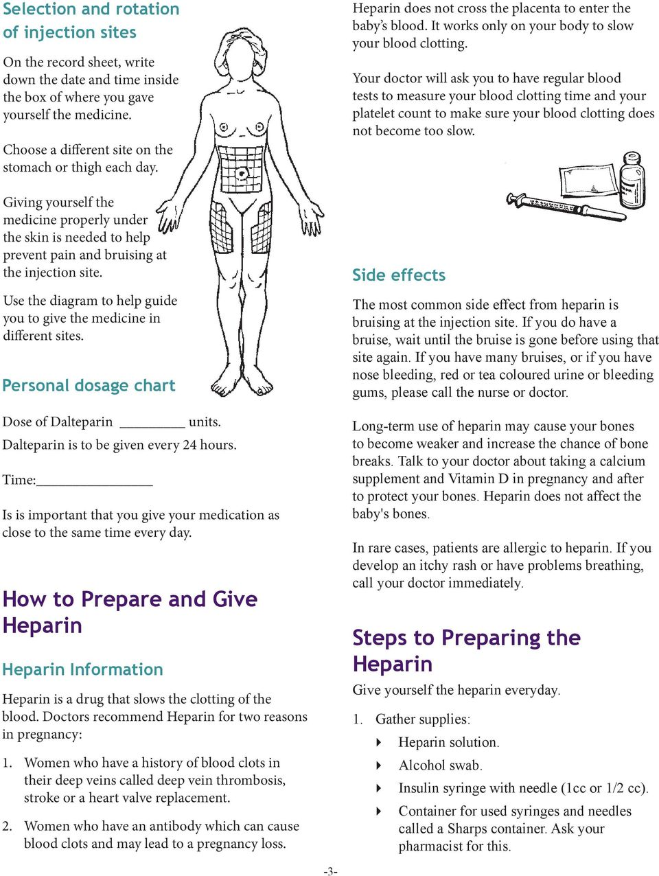 use the diagram to help guide you to give the medicine in different sites   personal