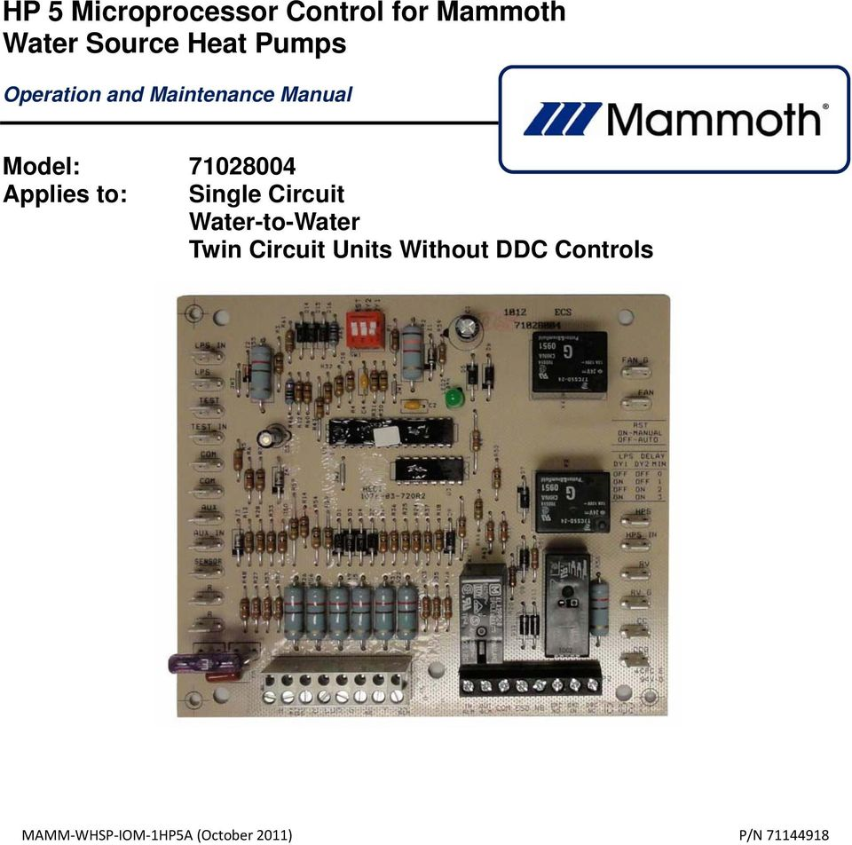 Mammoth Heat Pump Wiring Diagram on
