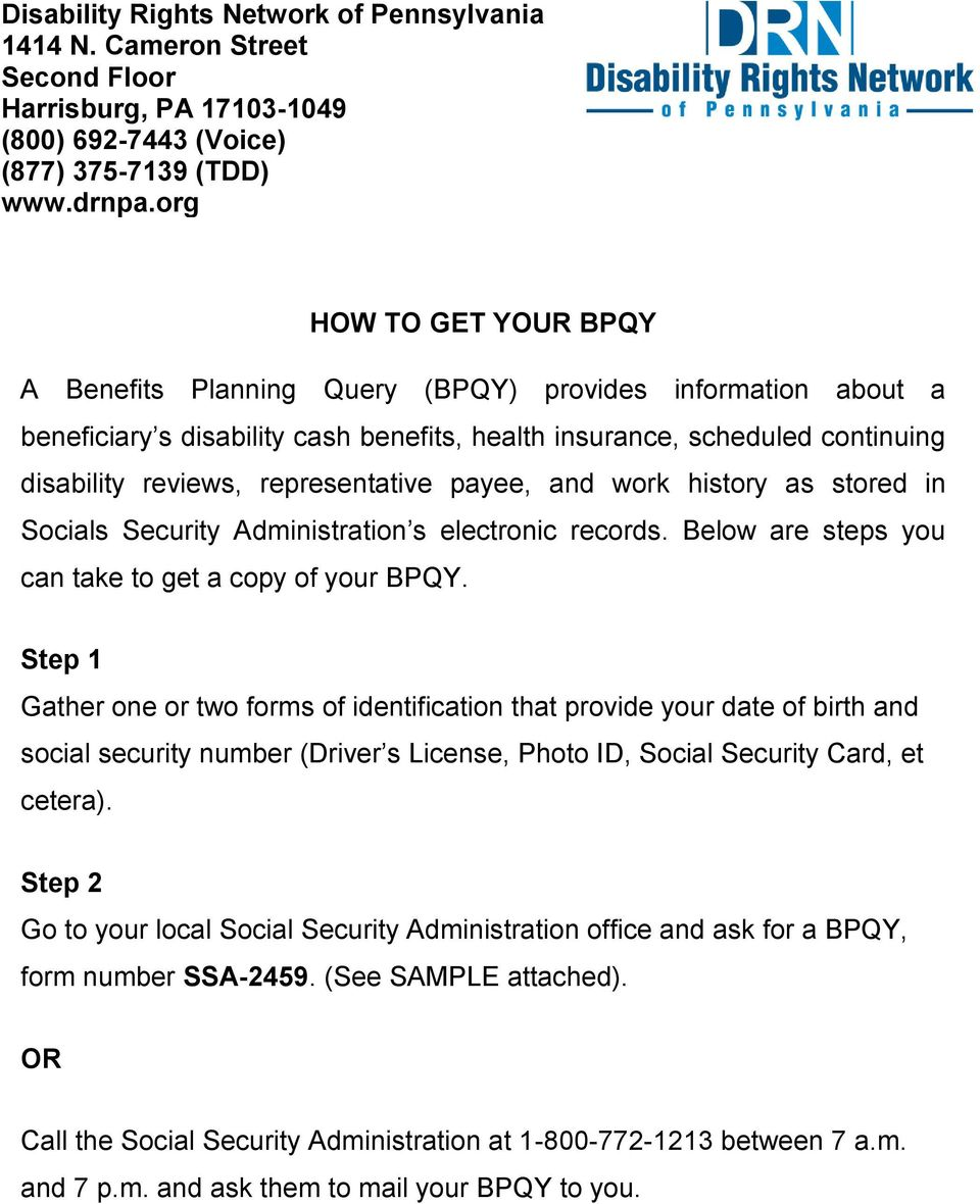 HOW TO GET YOUR BPQY - PDF