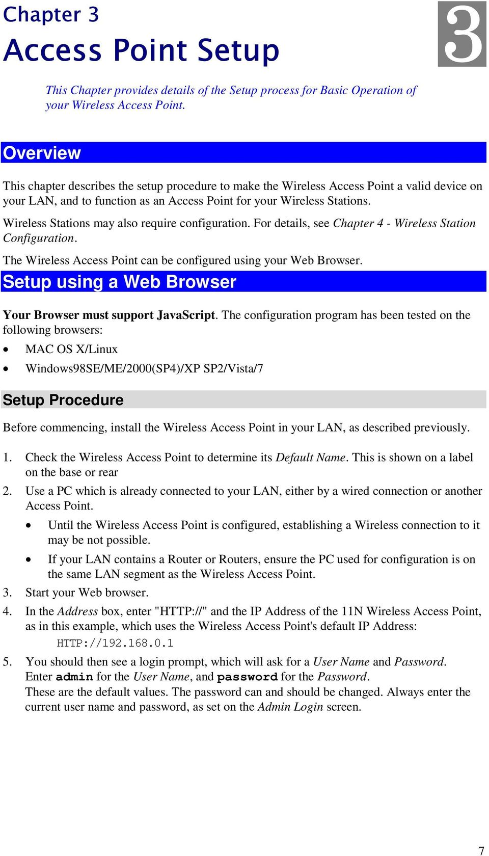 LevelOne  WAP Mbps N_Max Wireless Access Point  User Manual