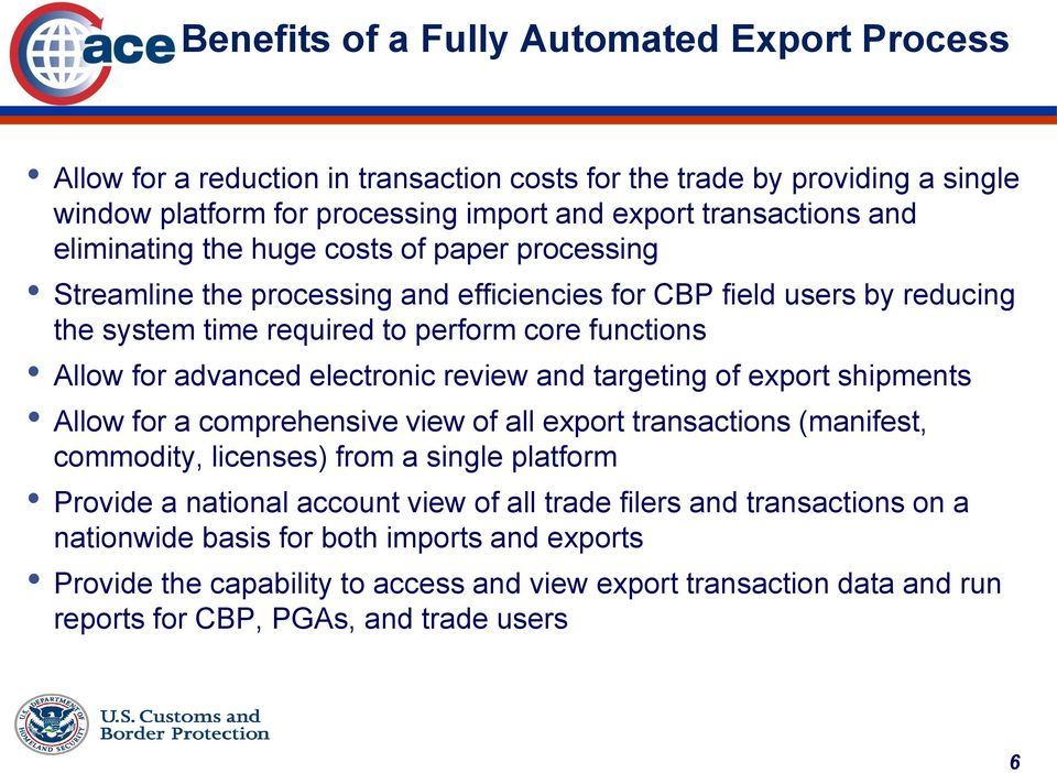 Trade Software Developer Technical Seminar Automated Export