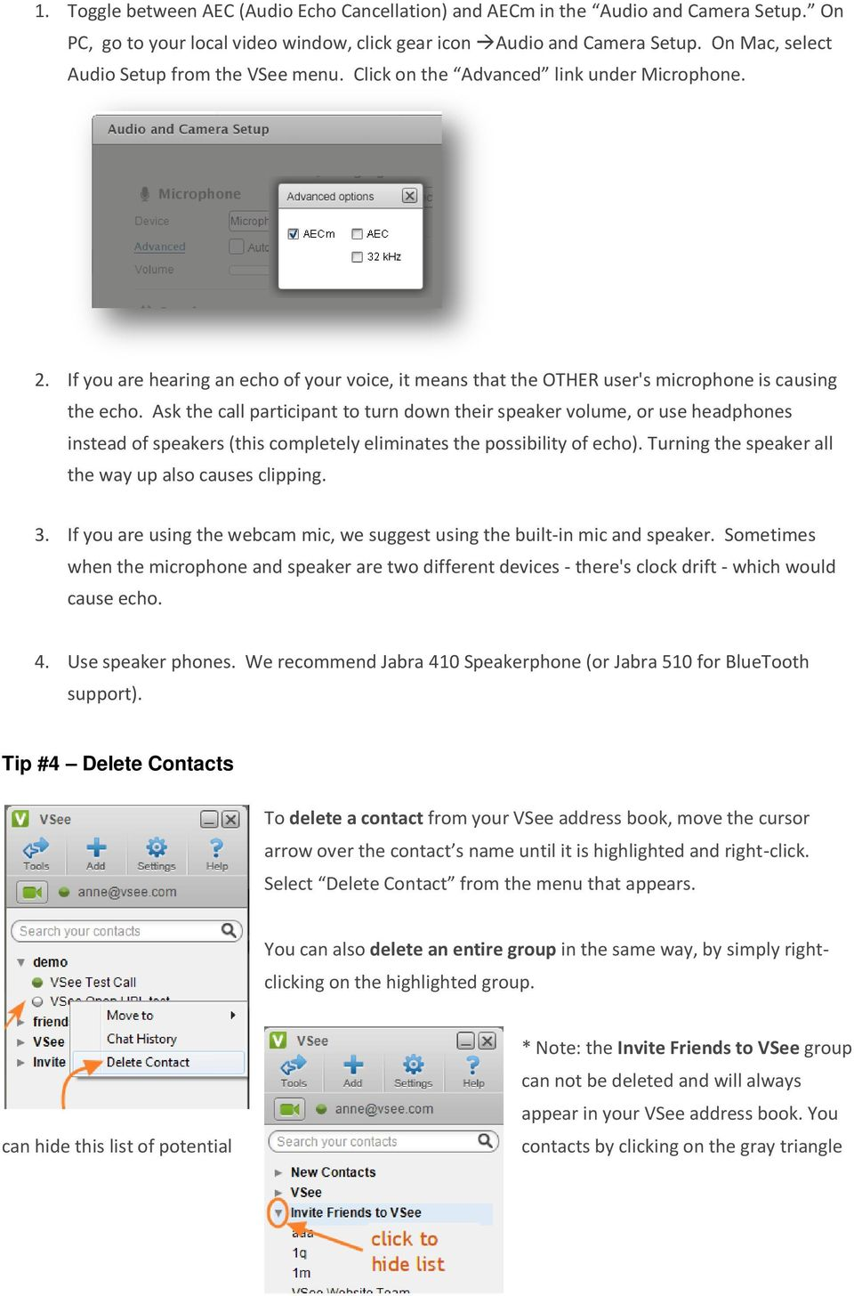 VSee Quick Guide and Tips - PDF