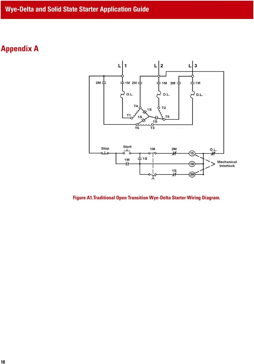 Wye Delta And Solid State Starter Application Guide Pdf Motor Diagram On Transformer Wiring 18 Transition