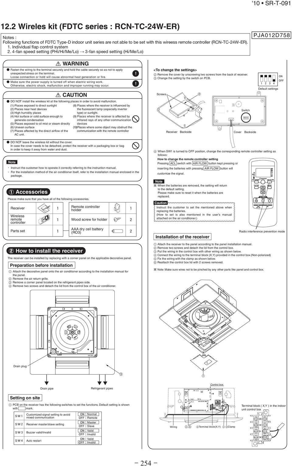 Technical Manual Inverter Residential Air Conditioners Split Ac Fan Wiring To Panel 4 Speed Setting Phi Hi Me Lo 3