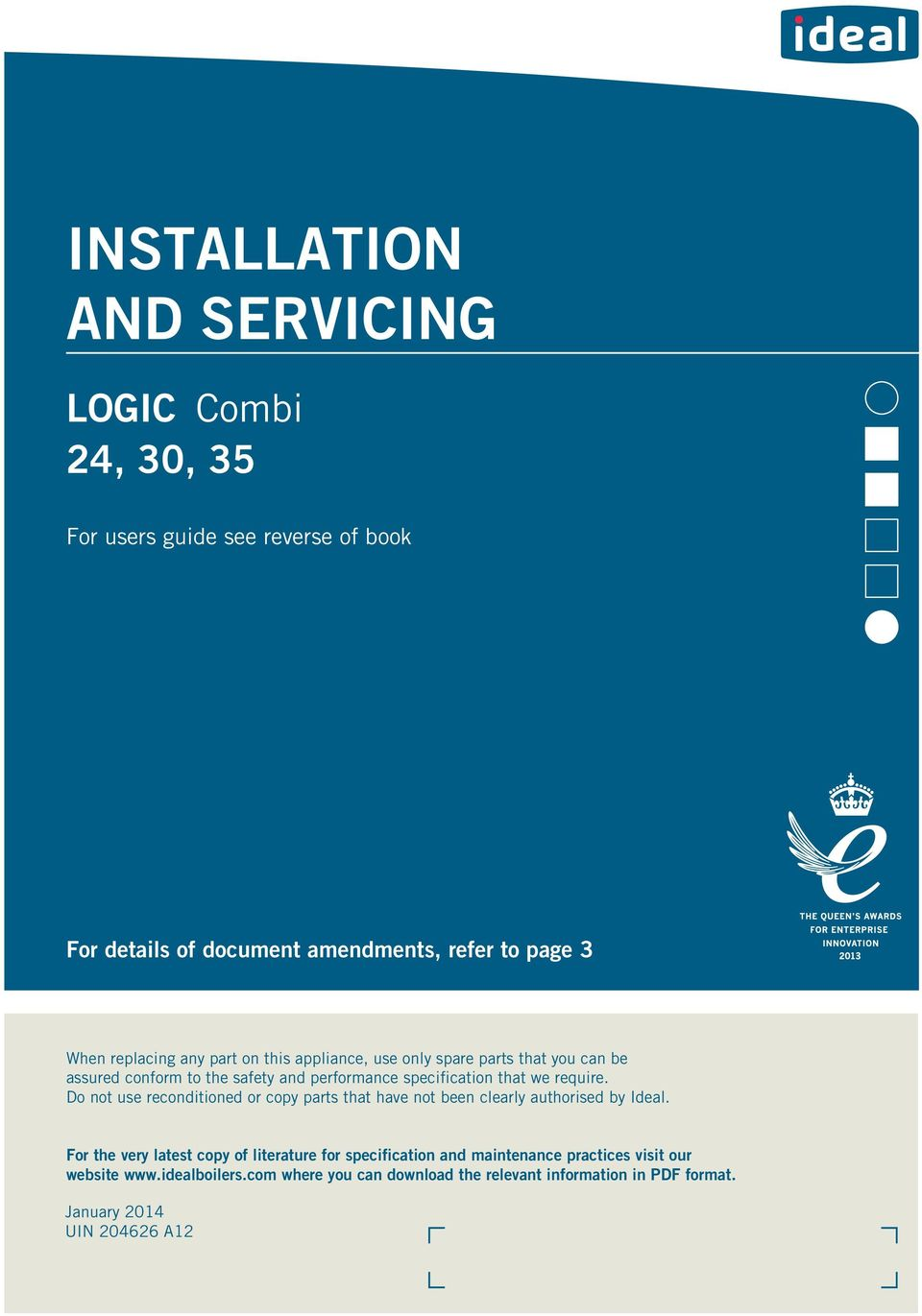 INSTALLATION AND SERVICING - PDF