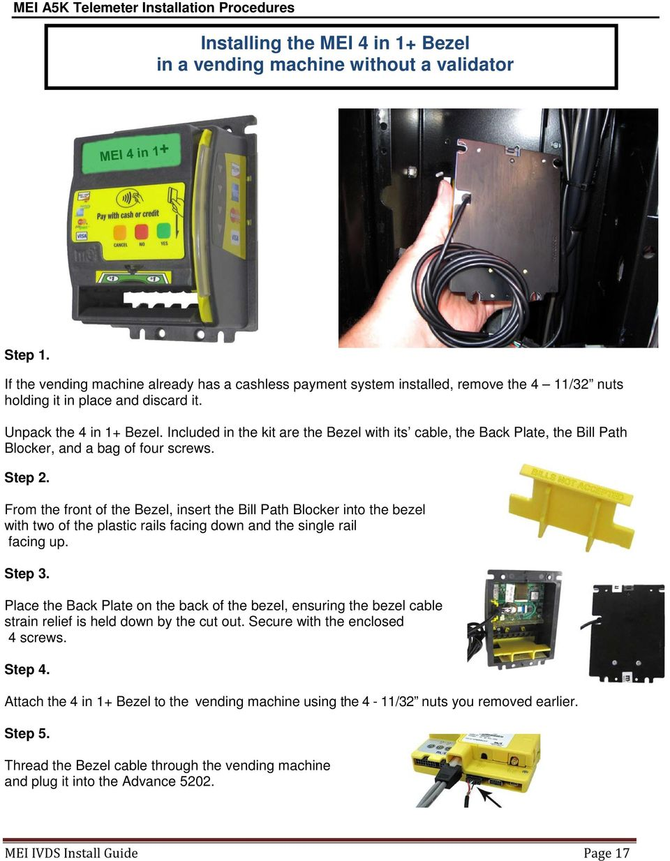 Interactive Video Display System Install Guide  MEI 3222