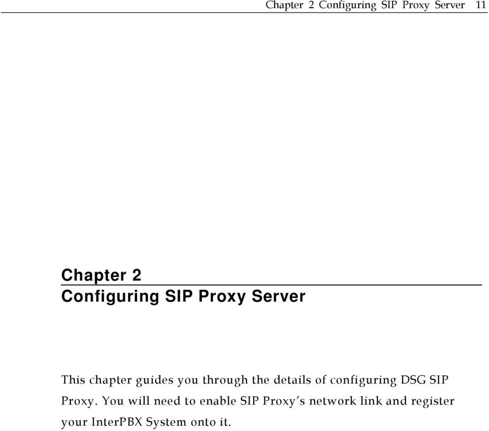 the details of configuring DSG SIP Proxy.