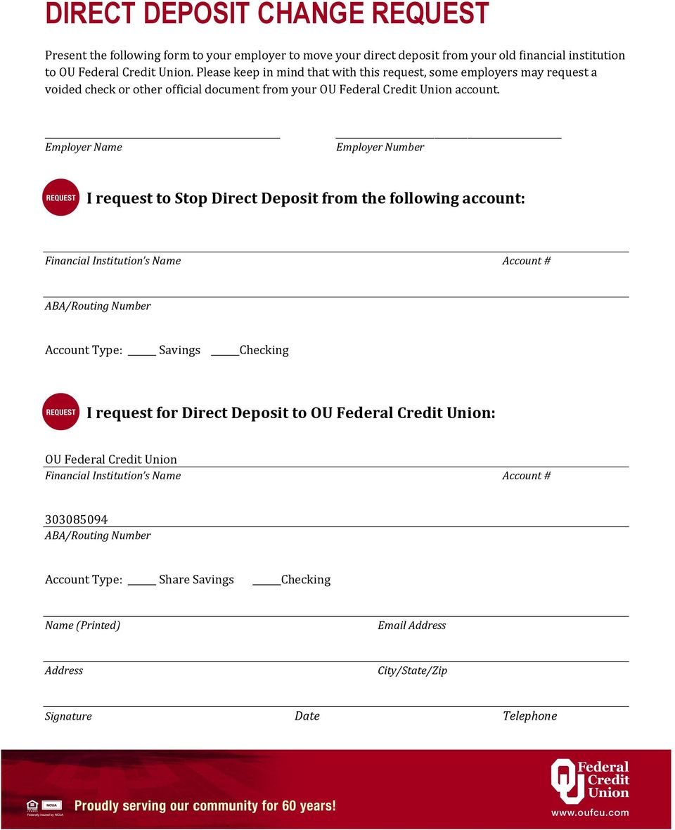 ou federal credit union switch kit - pdf