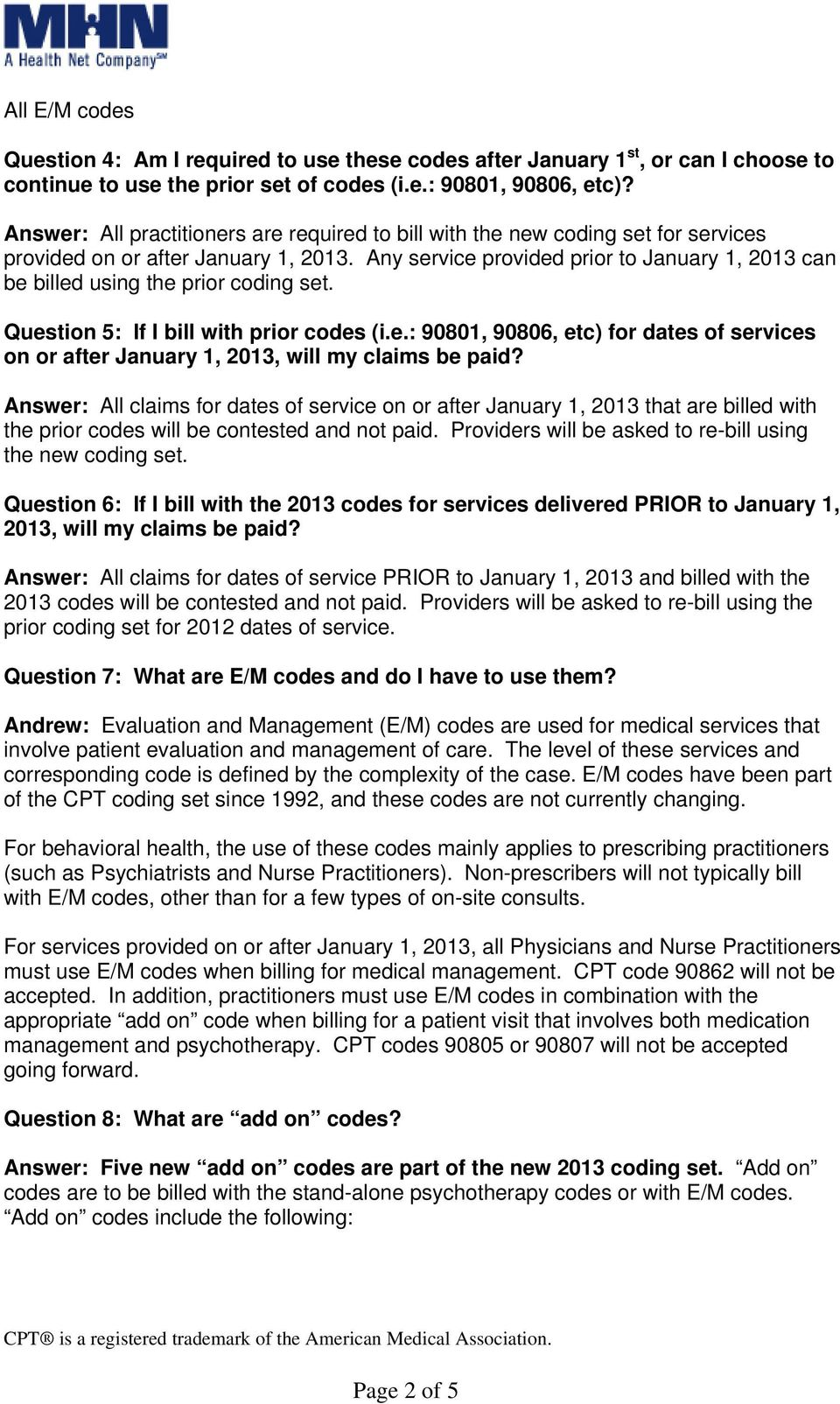 2013 Cpt Code Changes Faq S Pdf
