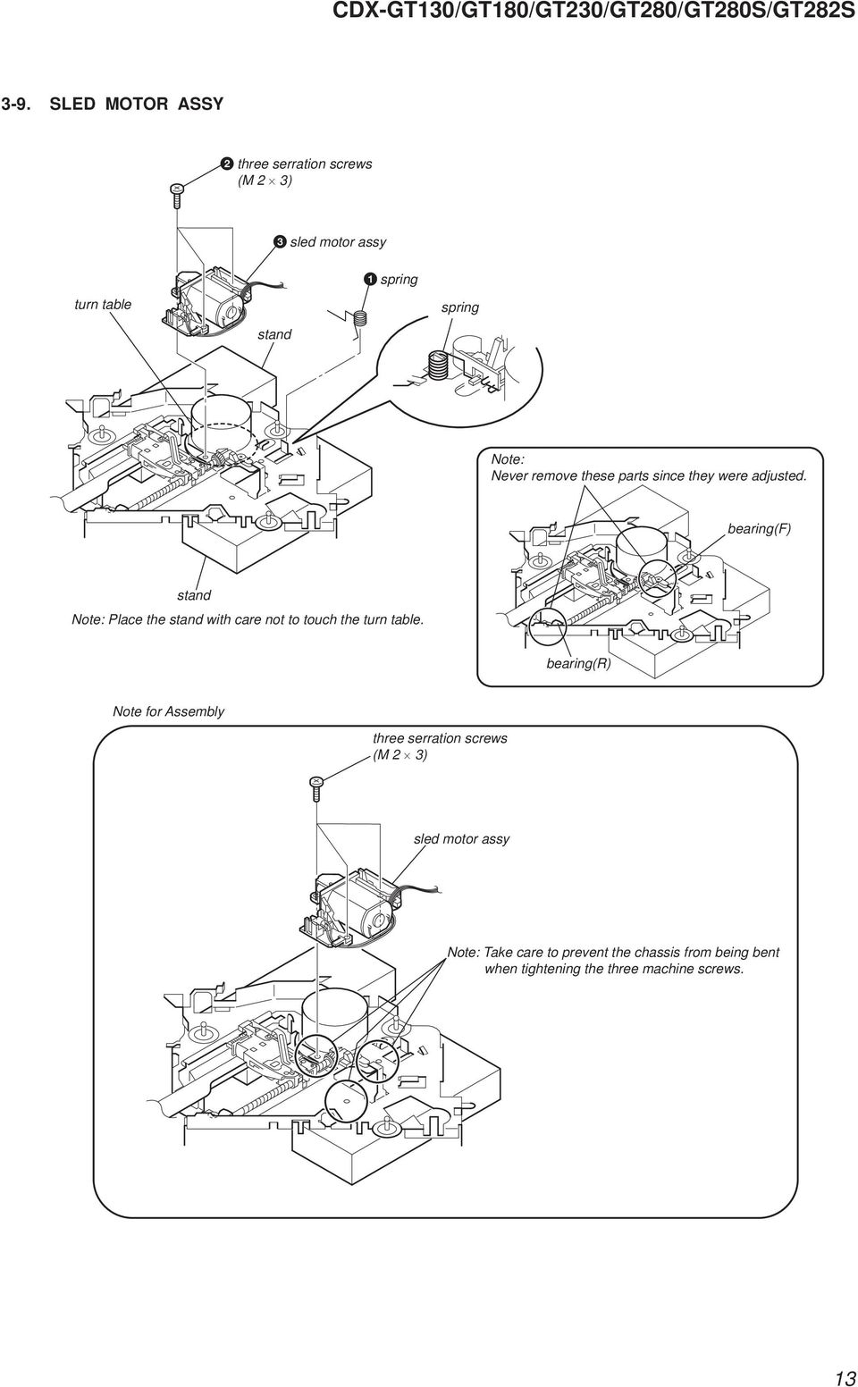 Photo Cdx Gt130 Specifications Pdf Sony Wiring Diagram Get Free Image About Bearingf Stand Note Place The With Care Not To Touch