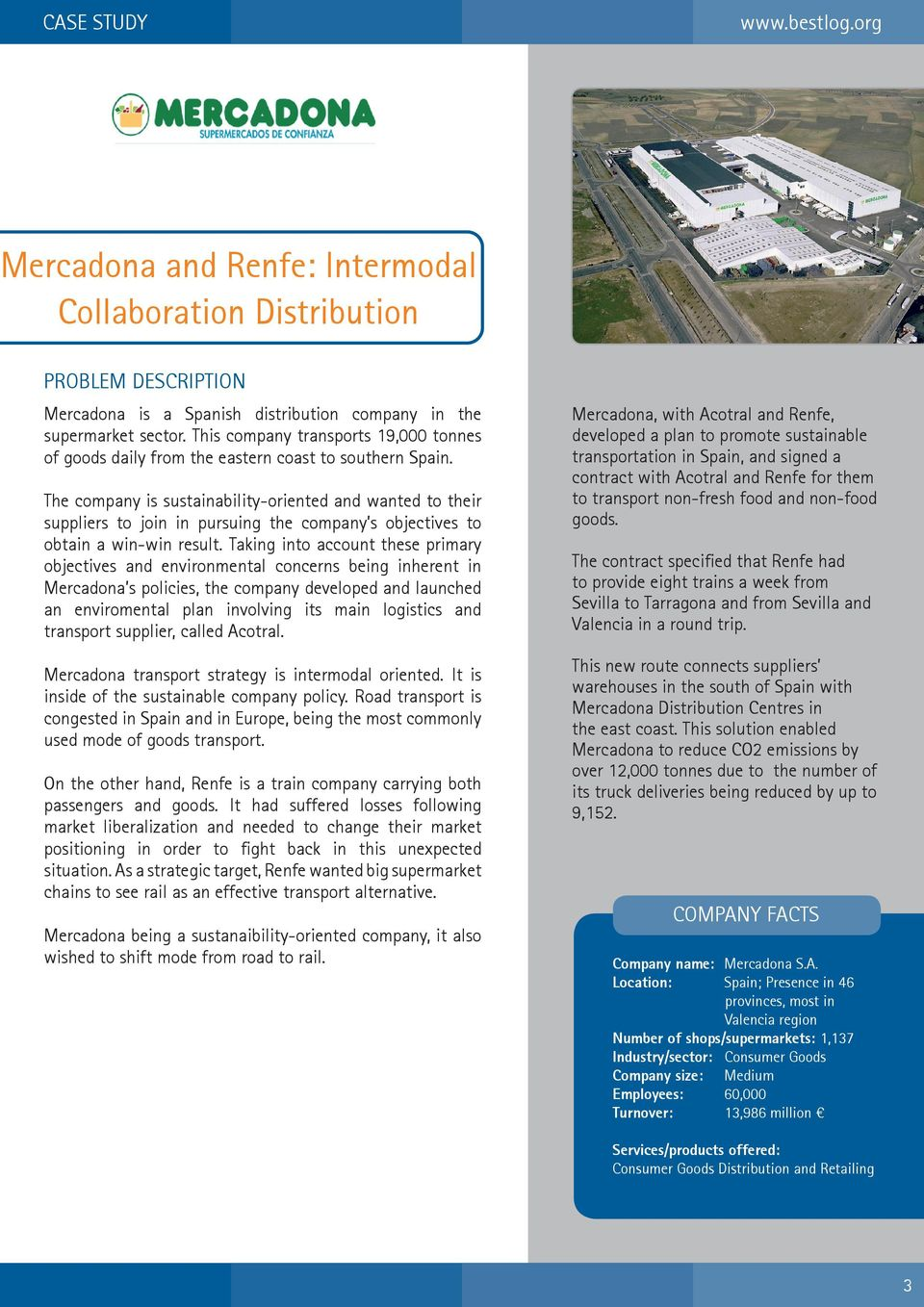 Case Study  Mercadona and Renfe: Intermodal Collaboration