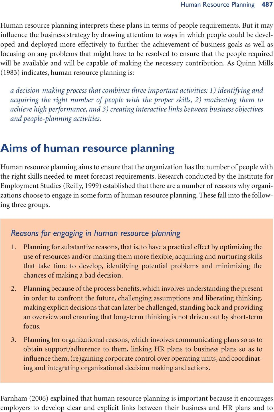 why human resource planning is important to an organisation