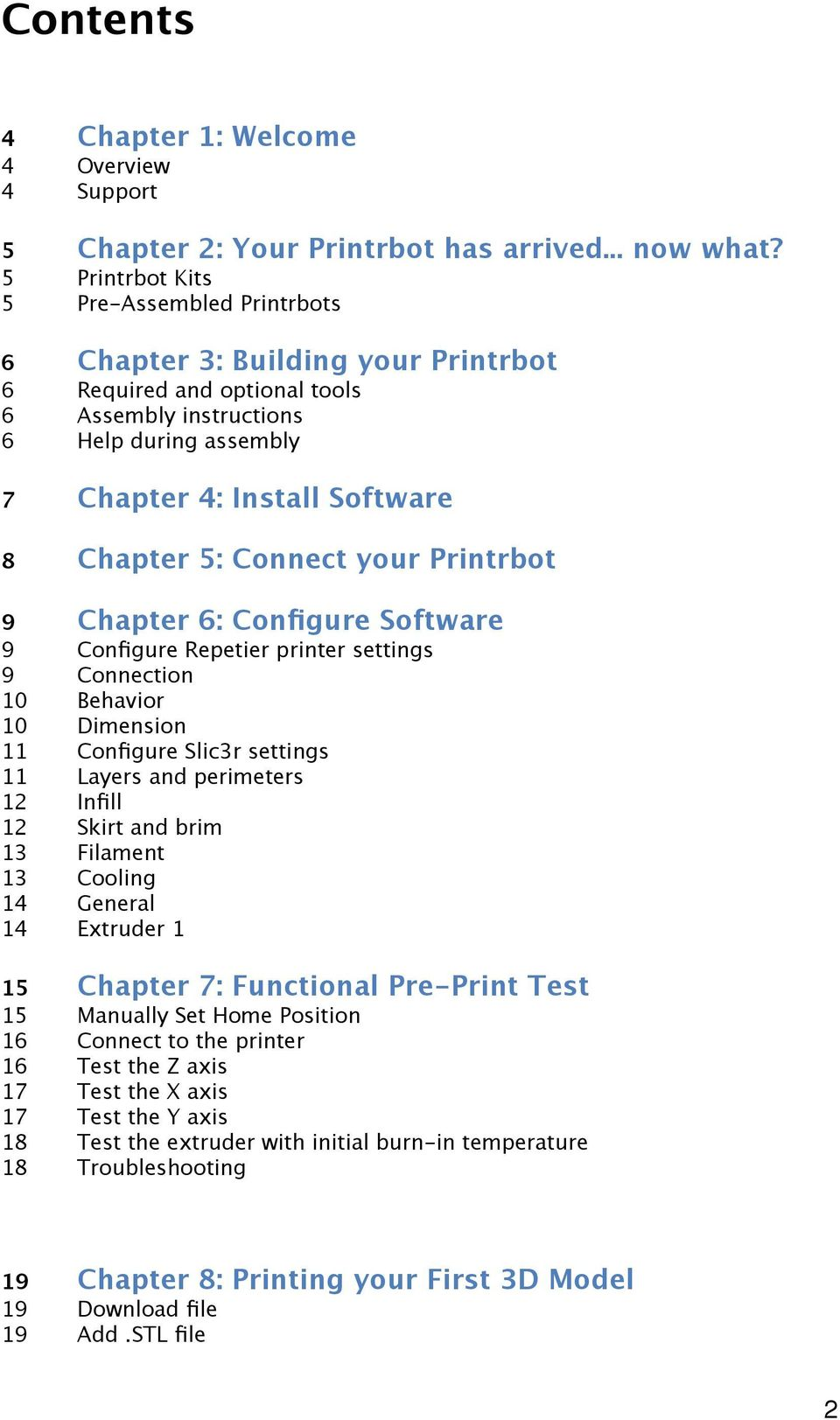 Printrbot Getting Started Guide  For models: Simple - PDF