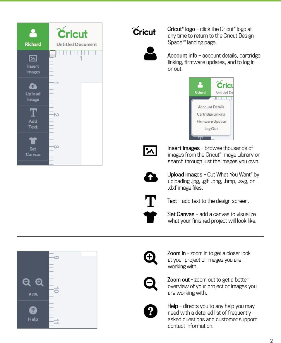 Cricut Design Space Reference Guide & Glossary - PDF