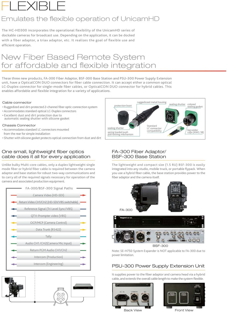 Affordable 3 Cmos Hdtv Camera System Pdf 2004 Chevrolet Silverado 4300l Fuse Box Diagram New Fiber Based Remote For And Flexible Integration These Three Products Fa