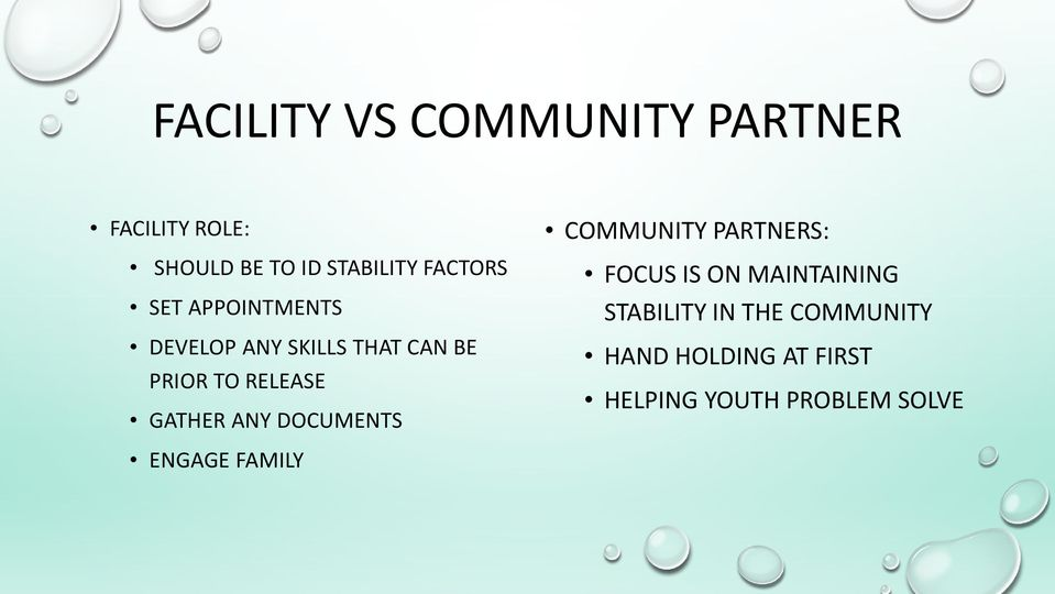 GATHER ANY DOCUMENTS COMMUNITY PARTNERS: FOCUS IS ON MAINTAINING STABILITY