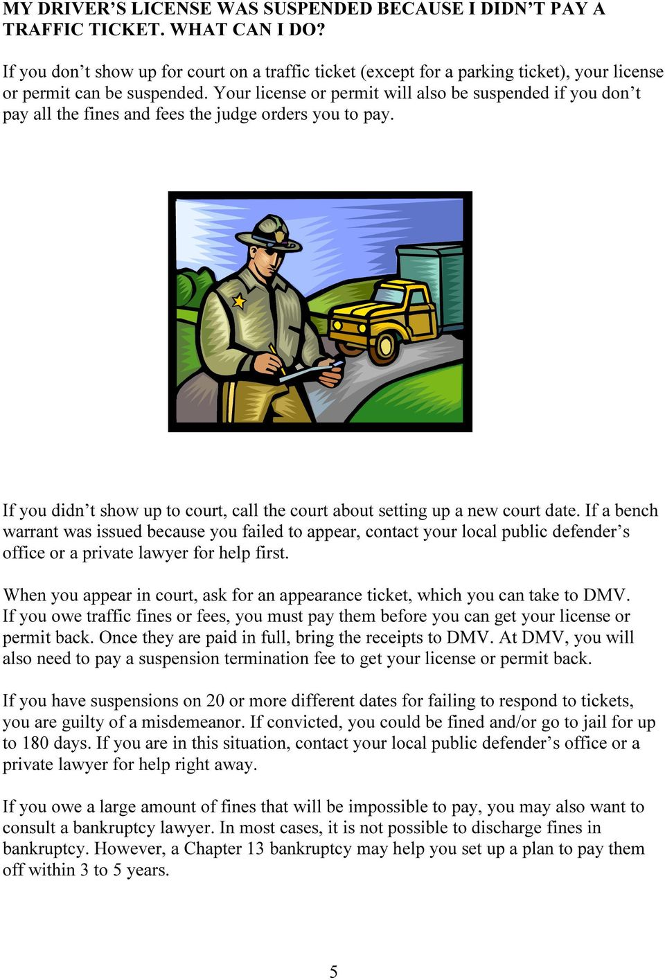 Getting Your Driver s License Back - PDF