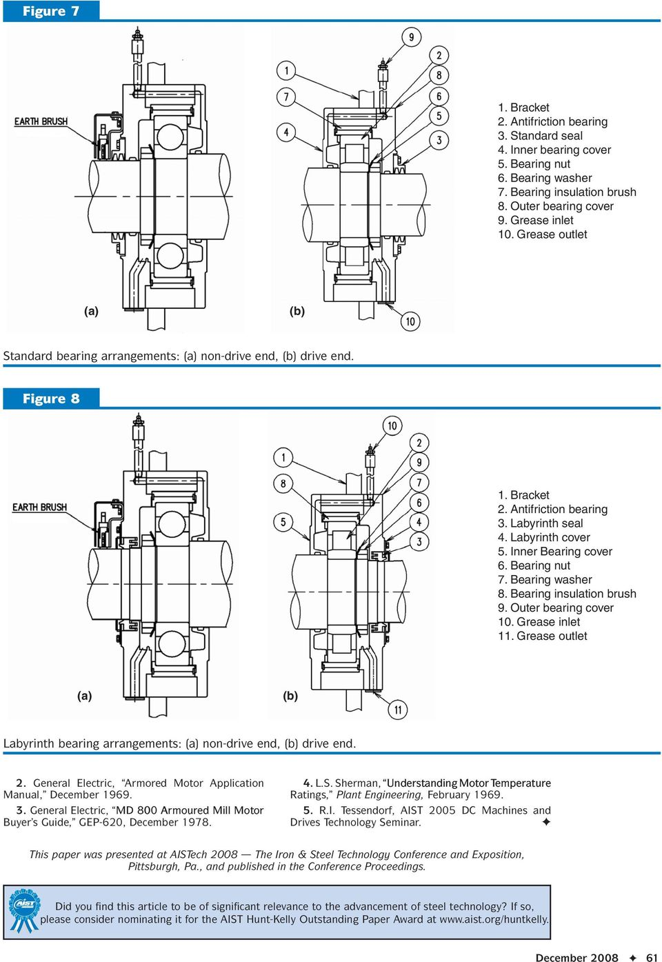 Ac Replacement For Dc Mill Duty Motors Pdf General Electric Shunt Motor Wiring Diagram Bearing Nut 7 Washer 8 Insulation Brush 9 Outer Cover