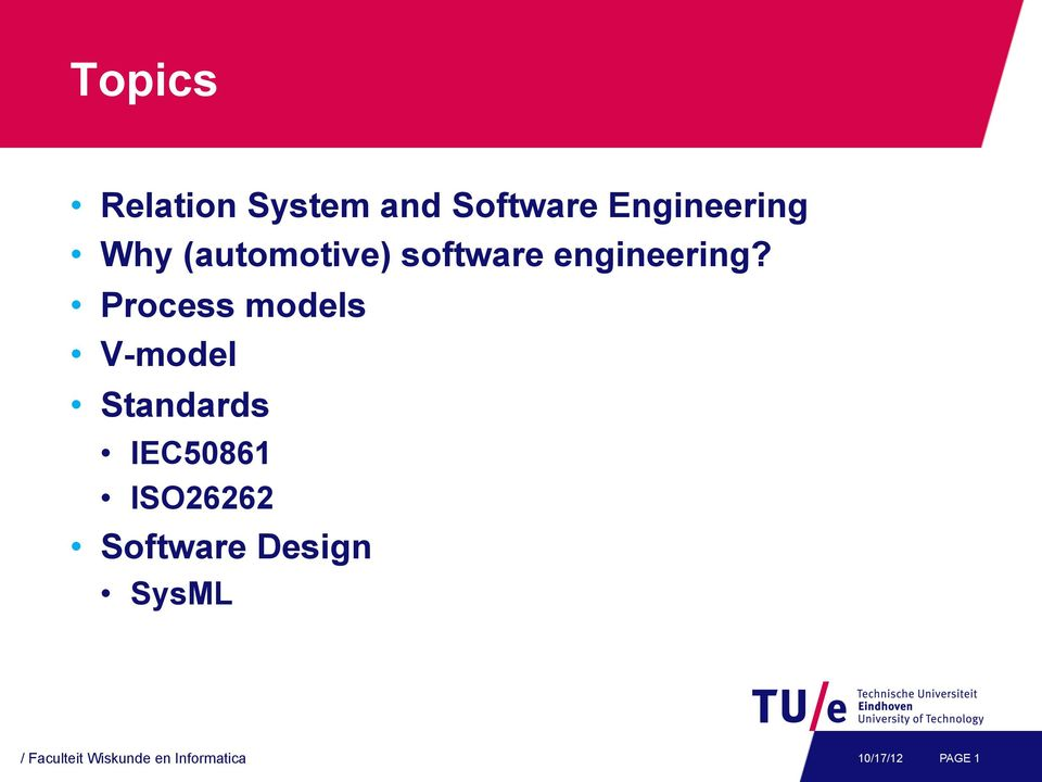 Topics Relation System And Software Engineering Why Automotive Software Engineering Process Models V Model Standards Pdf Free Download