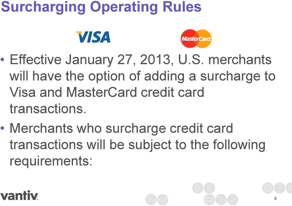MasterCard credit card transactions.