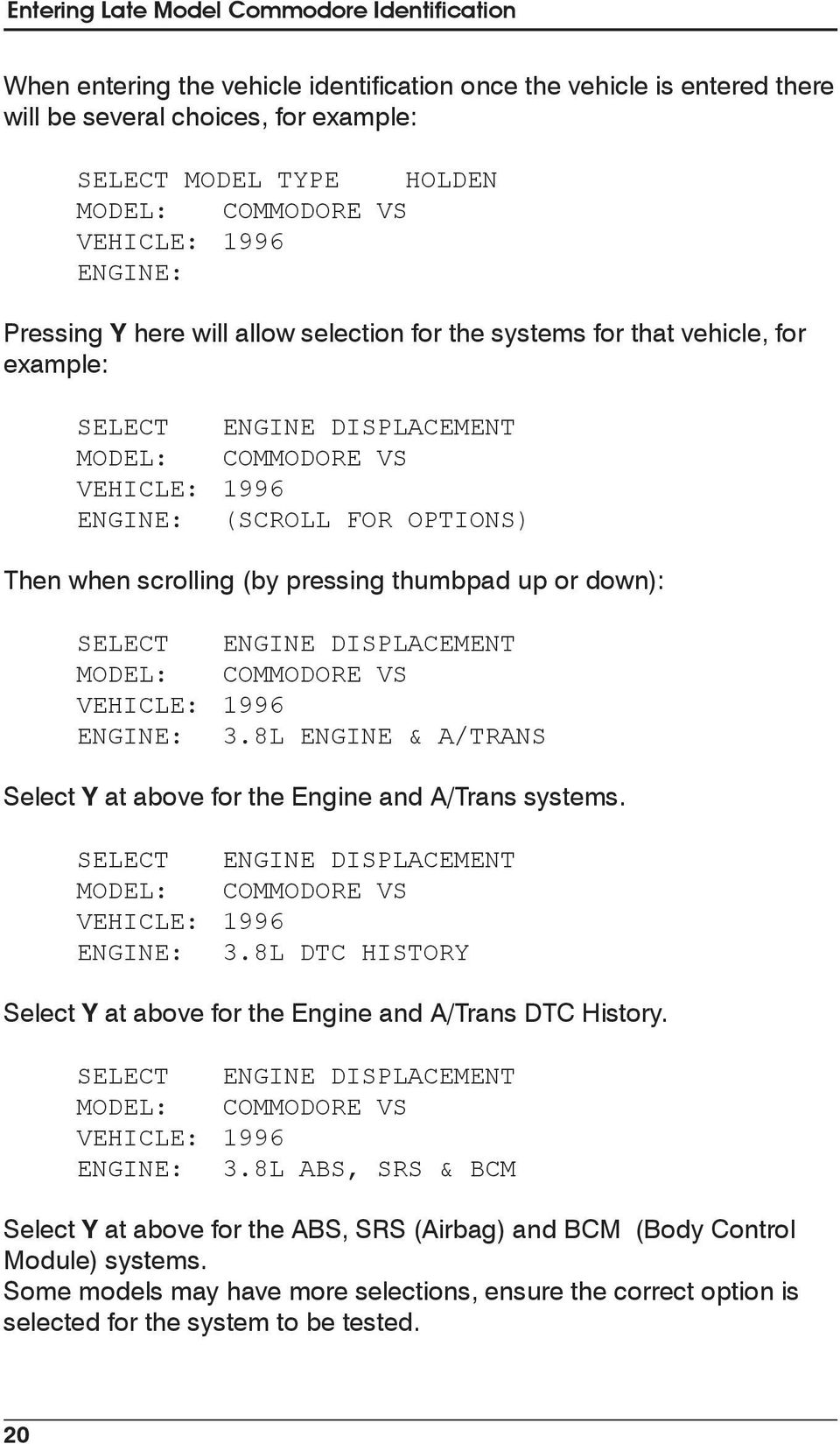 Holden Vehicle Communication Manual - PDF