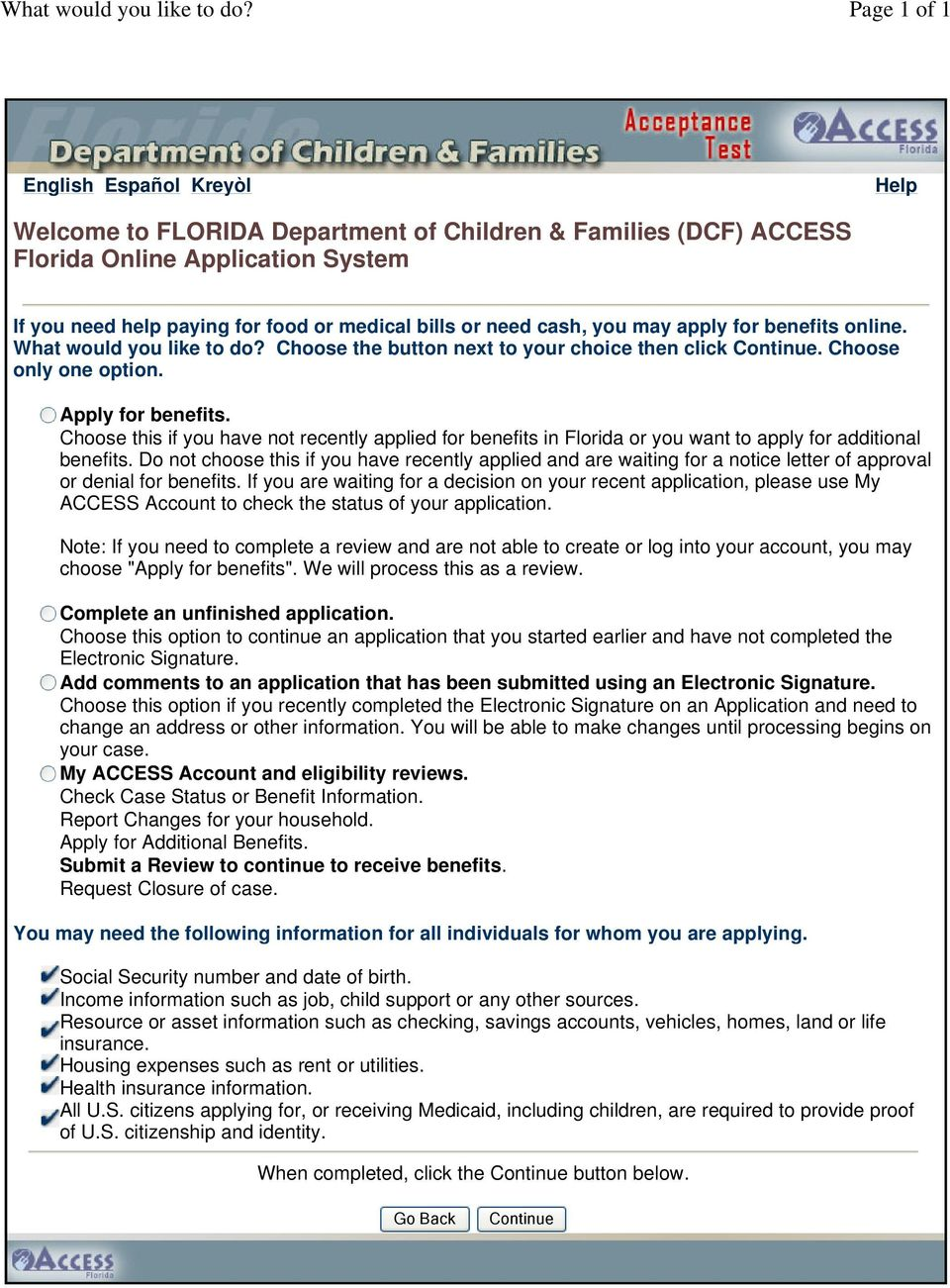 Welcome To Florida Department Of Children Families Dcf Access