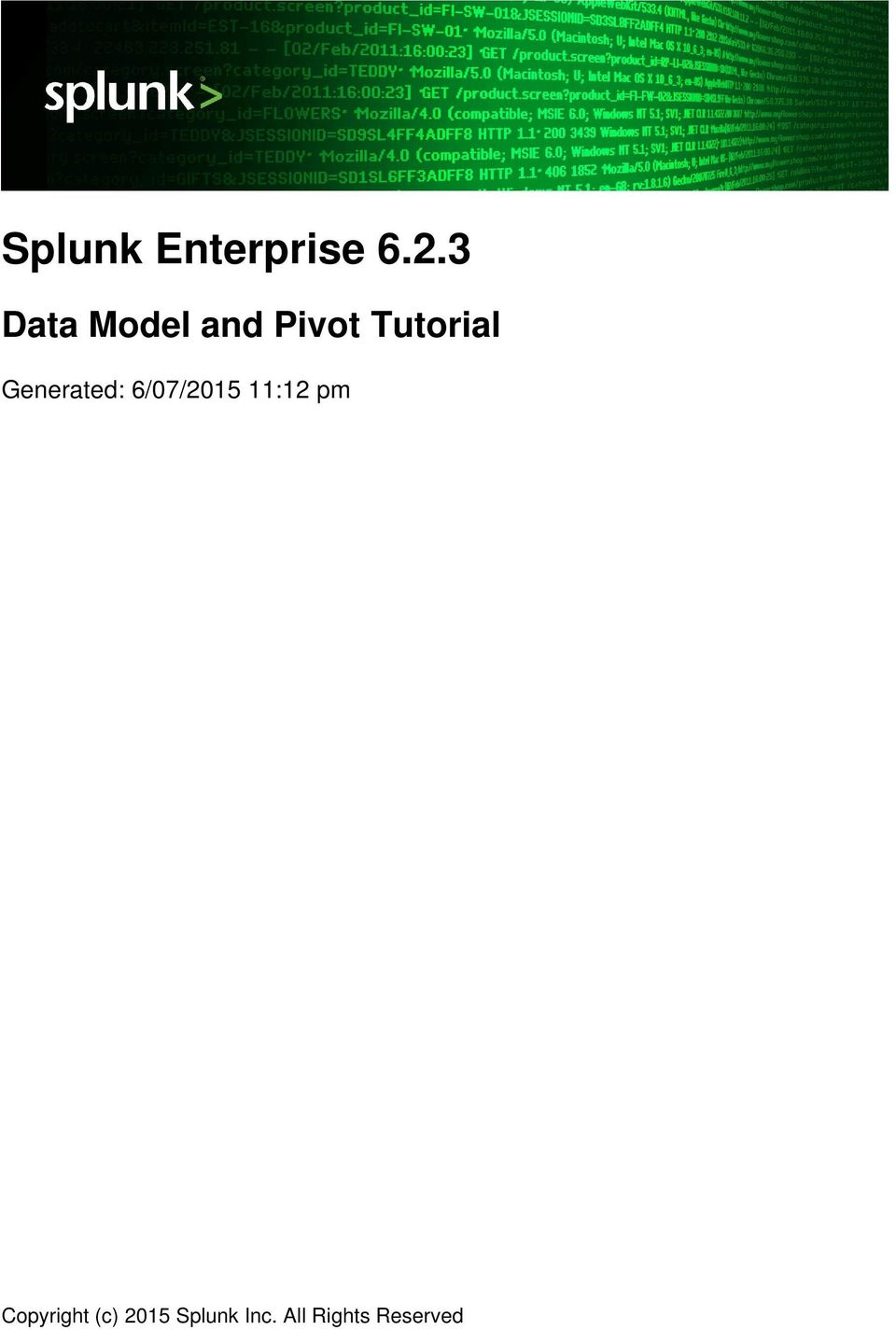 Splunk Enterprise Pdf