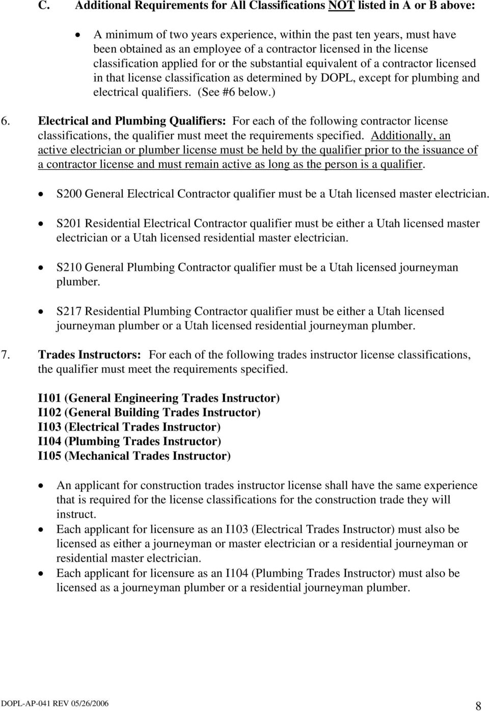 State Of Utah Division Of Occupational And Professional Licensing