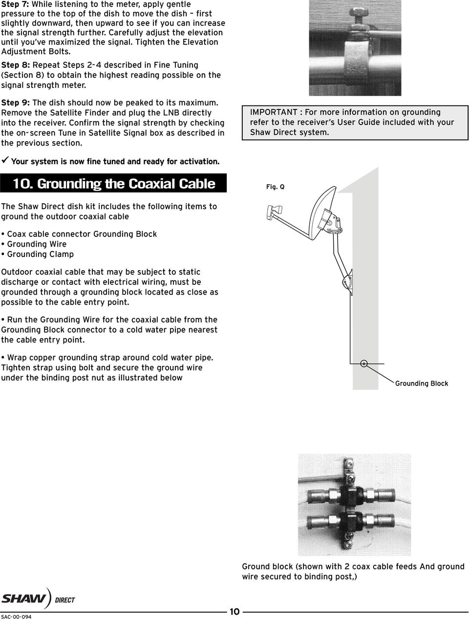 Shaw Box Wiring Diagrams Dual Satellite Installation Manual Pdf Step 8 Repeat Steps 2 4 Described In Fine Tuning Section