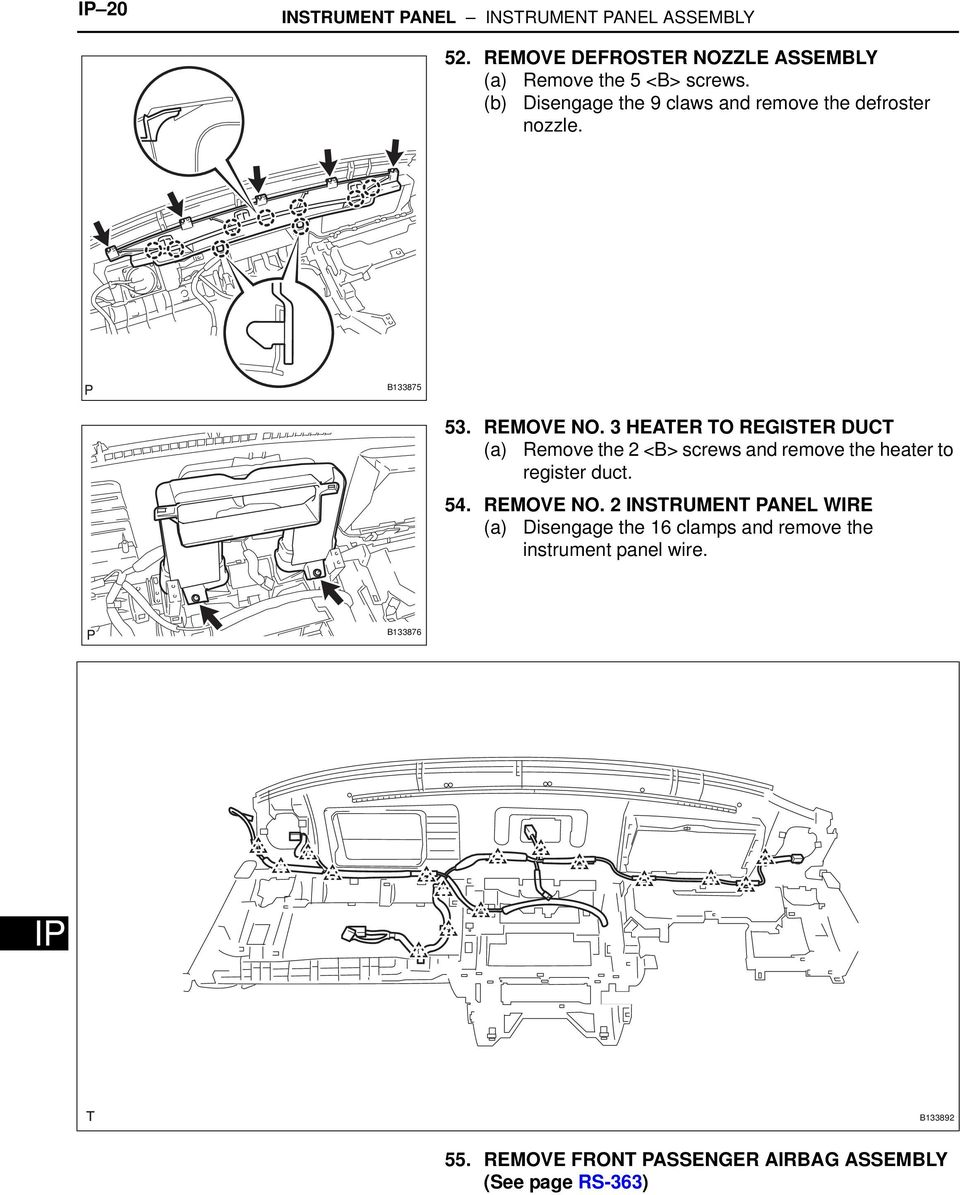Toyota Highlander Service Manual: Air bag sensor ASSY center