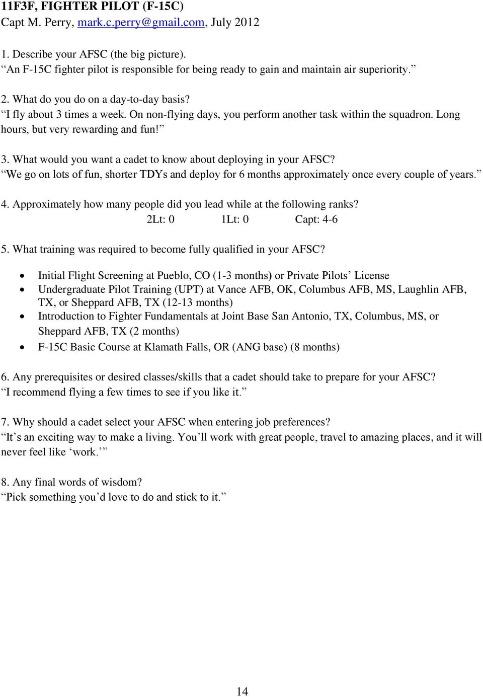 Afsc Guide Cgo Perspectives Pdf Airsuperiority Weekly Digital Timer Circuit We Go On Lots Of Fun Shorter Tdys And Deploy For 6 Months Approximately Once