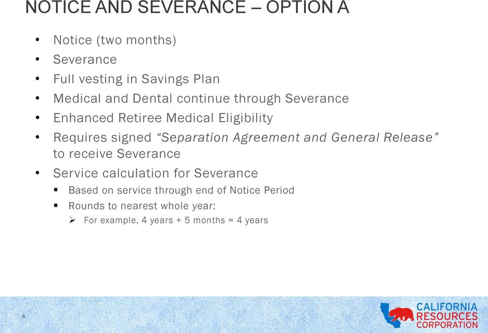 Notice And Severance Pay Plan February Pdf