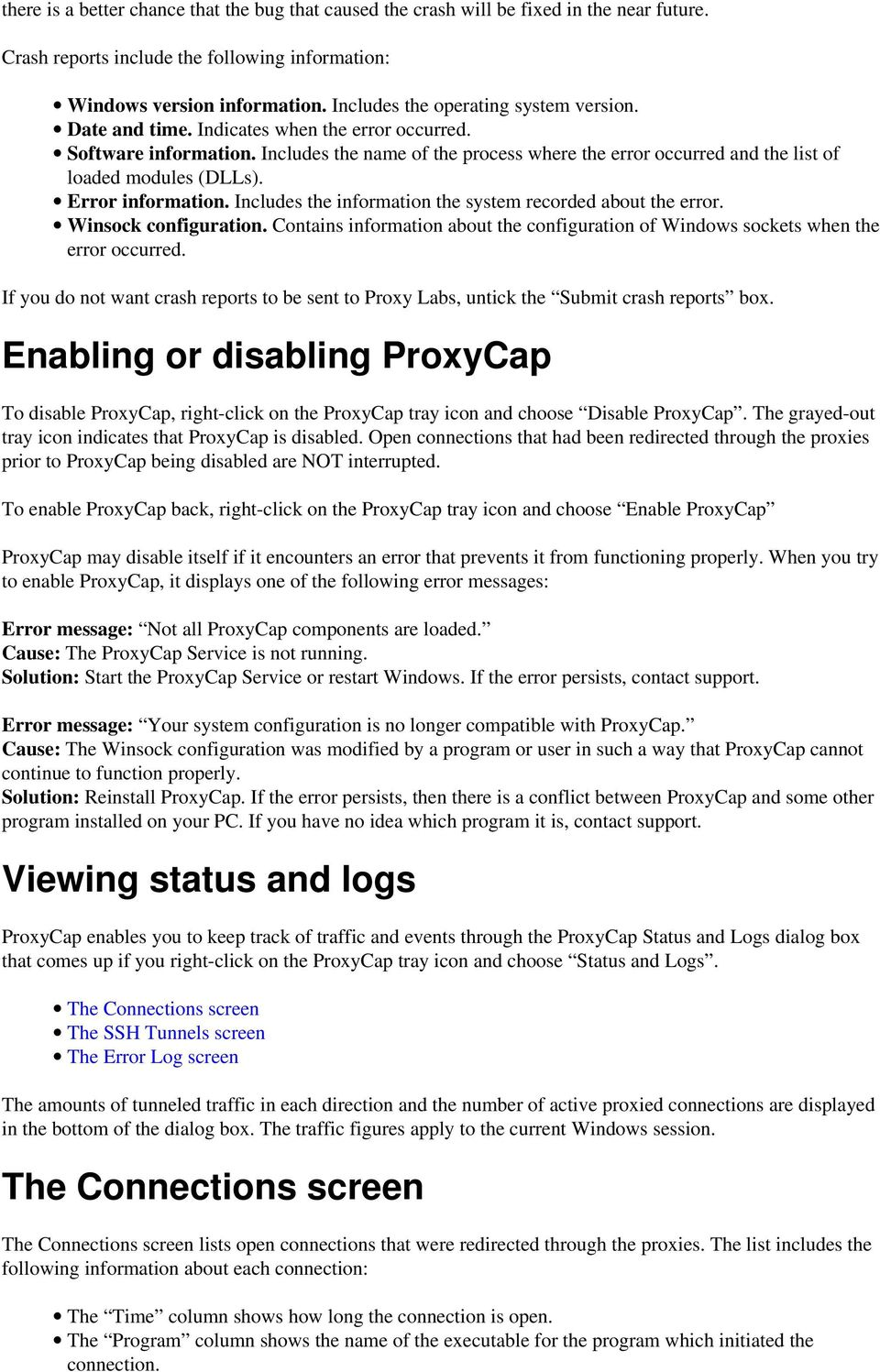 ProxyCap Help  Table of contents  Configuring ProxyCap Proxy Labs - PDF