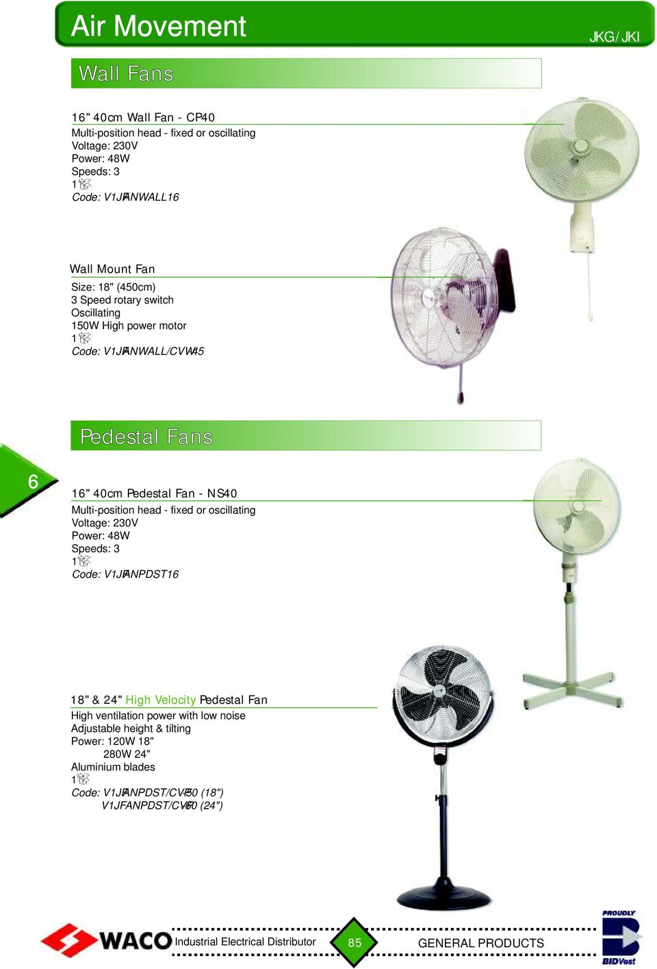 Air Movement Heaters Desk Fans Wall Pedestal Ceiling Fan Wiring Diagram Multi Position Head Fixed Or Oscillating Power 48w Speeds 3 Code