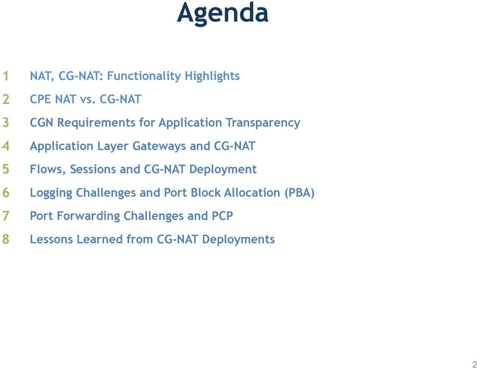 Carrier Grade NAT  Requirements and Challenges in the Real