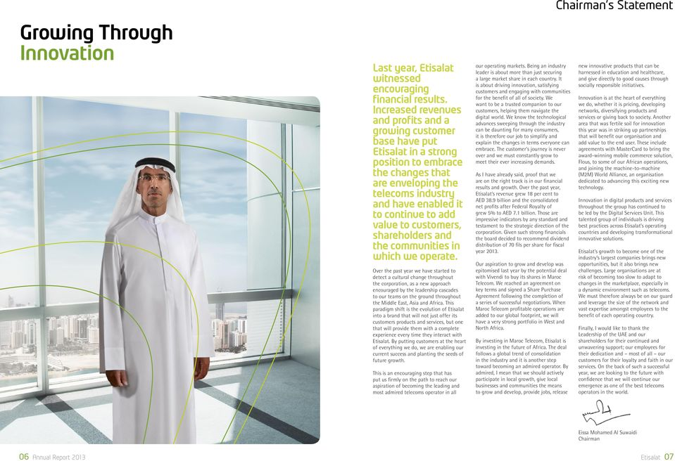 Table of contents  Etisalat - PDF