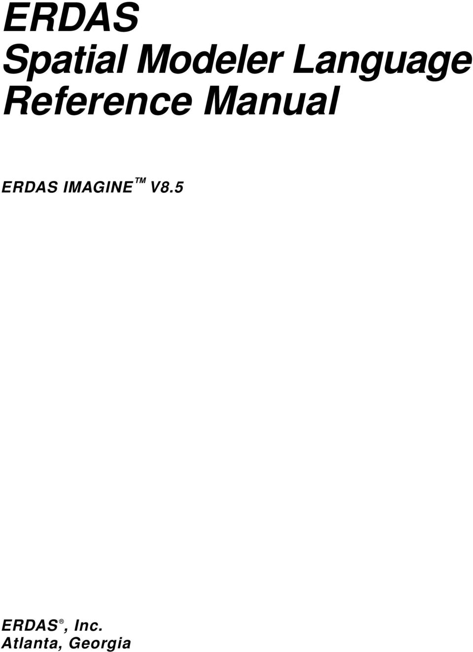 Manual ERDAS IMAGINE V8.