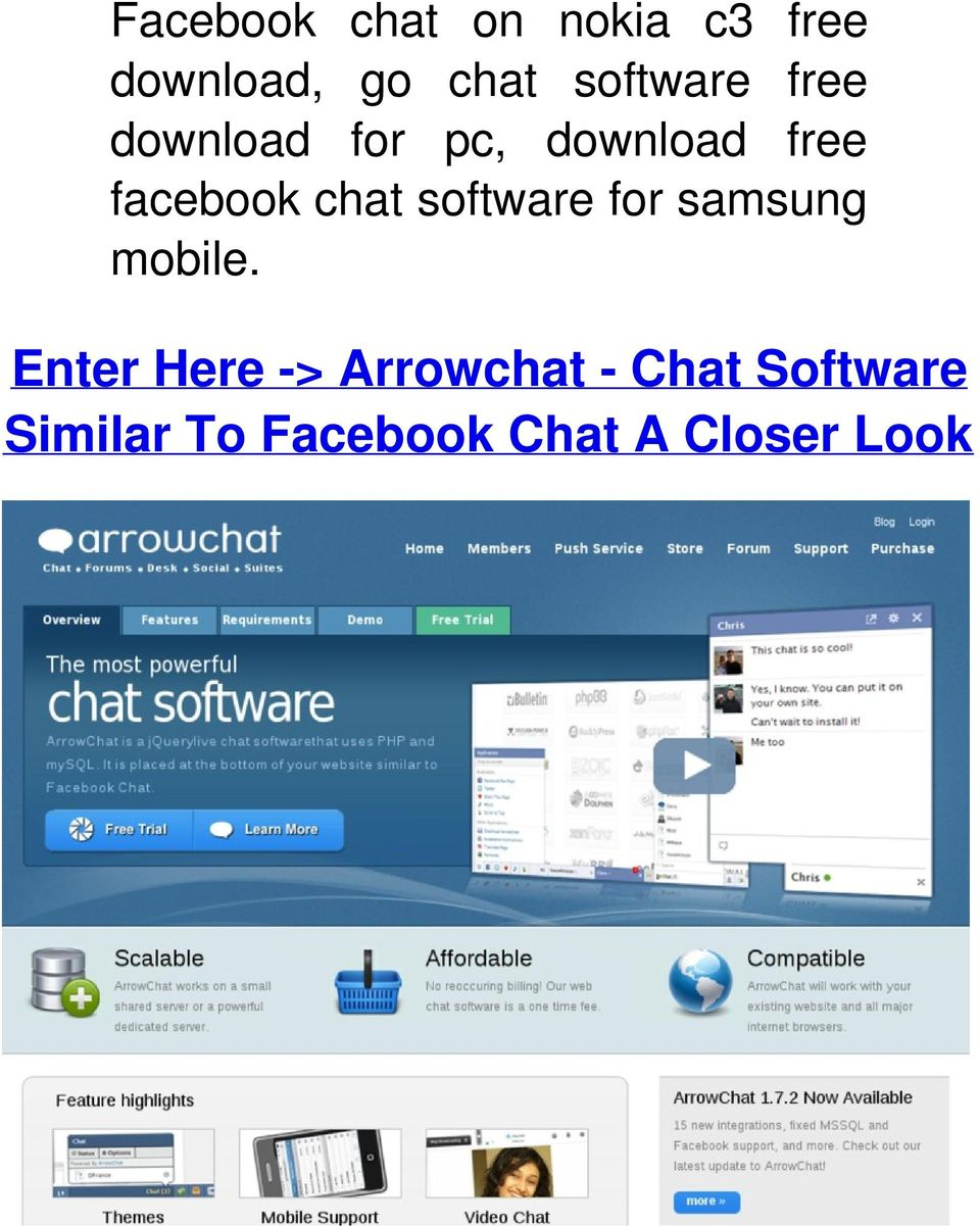 chat software for samsung mobile.