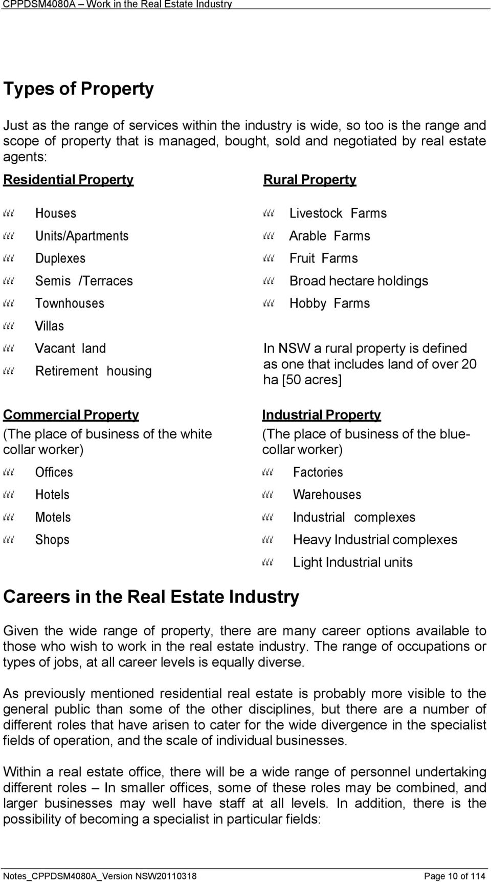 Cppdsm4080a Work In The Real Estate Industry Pdf