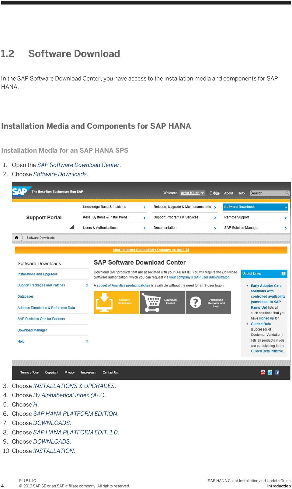 SAP HANA Client Installation and Update Guide - PDF