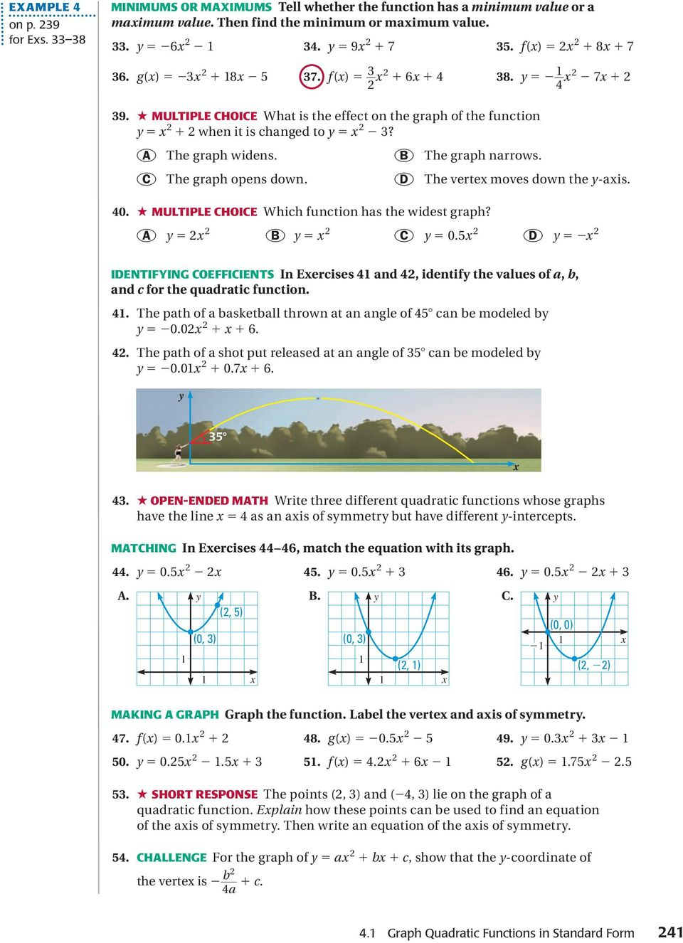 Quadratic Function Families Guided Notes Quadratic - Wallpaperzen org