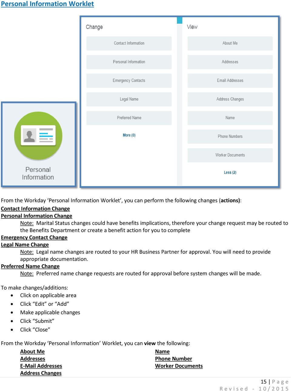 Workday Employee Self Service User Guide - PDF