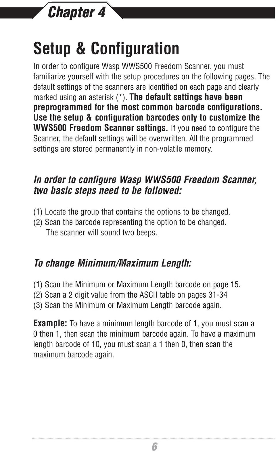 Barcode Scanning Made Easy  WWS500 Programming Guide - PDF