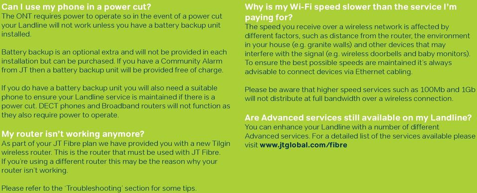Welcome to JT Fibre  All you need to know about your new